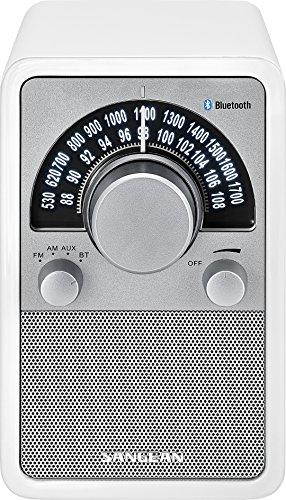 Sangean WR-15BT Retro bluetooth Radio mit AM und FM - Weiß