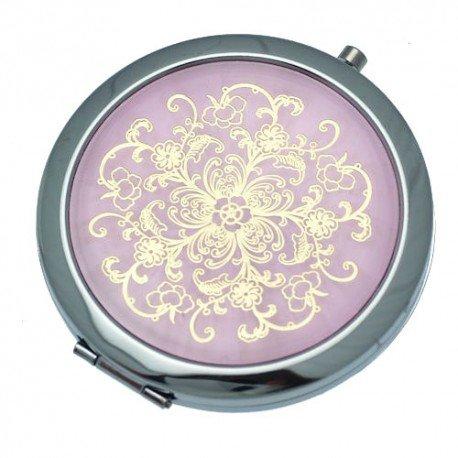 Beatrice Miroir d'argent Rose & Gold Compact de 70 mm