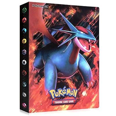 Funmo Álbum de Pokemon, Álbum Titular de Tarjetas Pokémon Pokemon Cards Album Pokemon Trading Cards GX EX Carpeta Libro 30 páginas 240 Tarjetas Capacidad (Storm Salamander) por Funmo