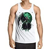 style3 Sephiroth VII Camiseta de Tirantes para Hombre Tank Top Fantasy Avalanche Juego de rol PS iOS japón, Talla:S