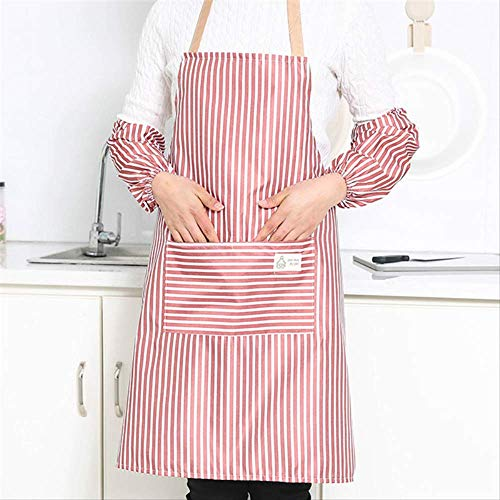FHFF schort, waterdicht, olieafstotend, keuken, riem, slabbetje, heren, dames, polyester, gestreept, rood