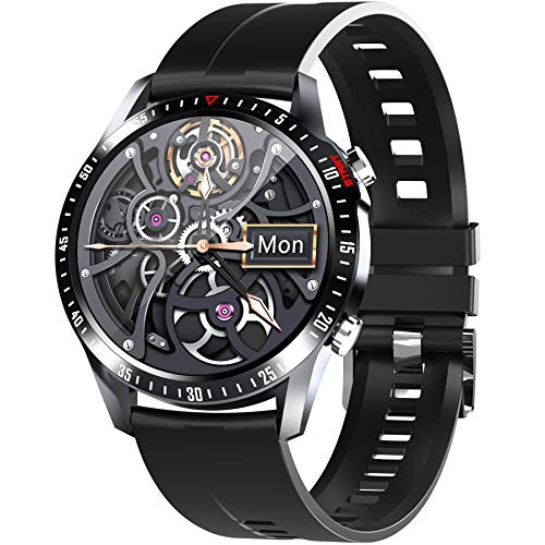 "PHIPUDS Smartwatch (2021 neu) 1.28"" Touch Screen Herren Damen Intelligente Uhren Sport 