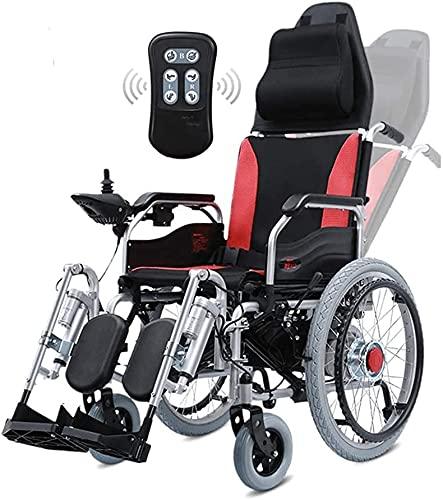 Sedia a rotelle elettrica con poggiatesta Telecomando portatile leggero Telecomando elettrico elettrico o manuale Addroper anziani sedia a rotelle disabili