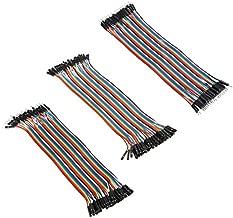 BouBou 120Pcs 20Cm Macho A Hembra A Mujer Macho A Macho Pan De La Placa De Pan De La Tabla De Arena Cable Dupont Wire Combinación para Arduino