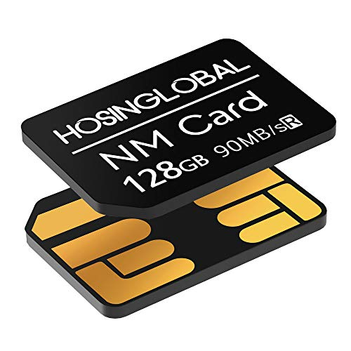 HOSINGLOBAL Geeignet für Huawei NM-Karte 128GB 90MB/S NM Card NM-Speicherkarte,kompatibel mit Huawei P30/P30 Pro/Mate X/Mate Xs/Mate 40/Mate 40 Pro