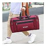 Fengdp Bolsa de Yoga Yoga de la Aptitud Gadgets de Gran Capacidad de la Aptitud Bolsa de Deportes de los Hombres Bolsa de la Aptitud Entrenamiento Bolsa de Viaje del Equipaje del Bolso (Color : Red)