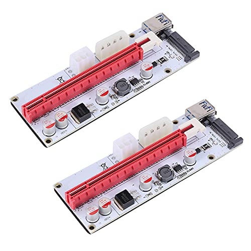 Baalaa 2 x USB 3.0 Pcie PCI-E Express 1X A 16X GPU Extender Riser Card