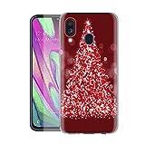 Pnakqil Samsung Galaxy A40 Custodia Cover,Natale Decorazioni Clear Trasparente UltraSottile...
