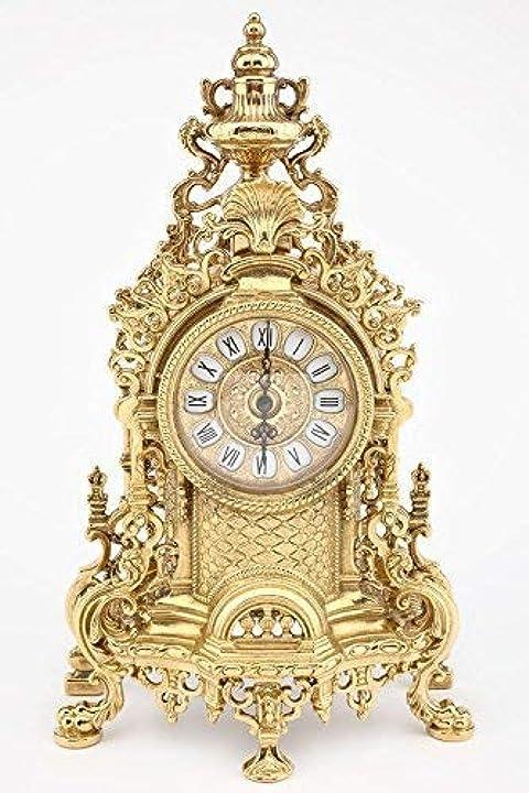 Orologio barocco da tavolo in ottone lucido mensola stile francese arterameferro B01AY9XFJE