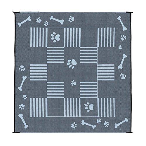 Ming's Mark DA1 Hundematte / Terrassenmatte, wendbar, 2,7 x 2,7 m, Schwarz