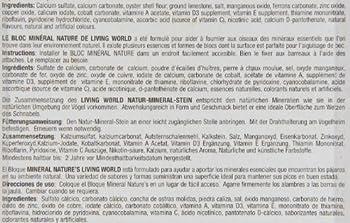 Living world Bloc Minéral Nourriture pour Oiseau Orange