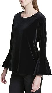 Calvin Klein Womens Velvet Knit Blouse