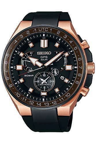 Seiko astron Herren Uhr analog Solar mit Silikon Armband SSE170J1