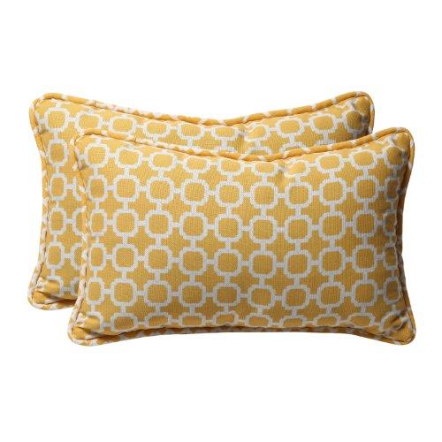 Pillow Perfect - Cuscino lombare Hockley Banana per esterni, 29,2 x 47 cm, colore: Giallo