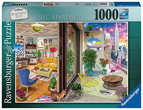 Ravensburger- NYC Apartment Puzzle 1000 Piezas – Fantasy, Multicolor (16545)