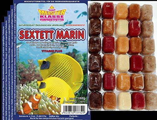 150 Portionen Frostfutter 5X 100g Sextett Marin für Meerwasser Aquarium