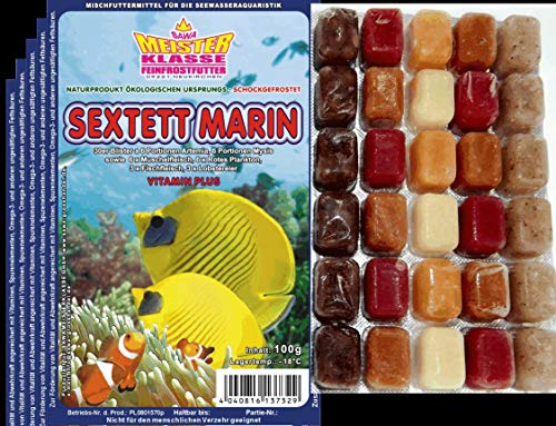 150 Portionen Frostfutter 5X 100g Sextett Marin für Meerwasser...