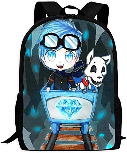 School Bags,Backpack Dantdm Bookbag Travel Bag Schoolbags Laptop Bag Mens and Womens Casual Backpack Waterproof and Durable Fashion Creative School Bag