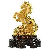 Estatua de Buda Decoración de caballos Sala de estar Lucky Handicraft Oficina Apertura Apertura de Doble Acuario Riqueza Prosperidad Estatua Feng Shui Estatua China Zodiaco Caballo Decoraciones De Est