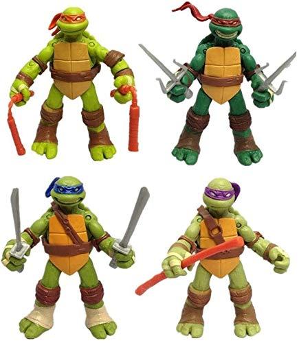 ZXLLY 4-Pack of Teenage Mutant Ninja Turtle Toys -Teenage Mutant Ninja Turtle Action Figures - Action Character Model -TMNT Set