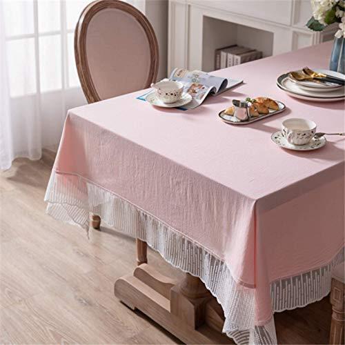 DJUX Algodón Puro sólidos Mantel Mesa de café tocador Cubierta casa Sala de Estar Estudio Comedor Mantel Mantel Mantel Tela 140x220cm