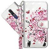 MRSTER Nokia 3.1 Plus Handytasche, Leder Schutzhülle Brieftasche Hülle Flip Hülle 3D Muster Cover mit Kartenfach Magnet Tasche Handyhüllen für Nokia 3.1 Plus 2018. YX 3D - Tree Cat