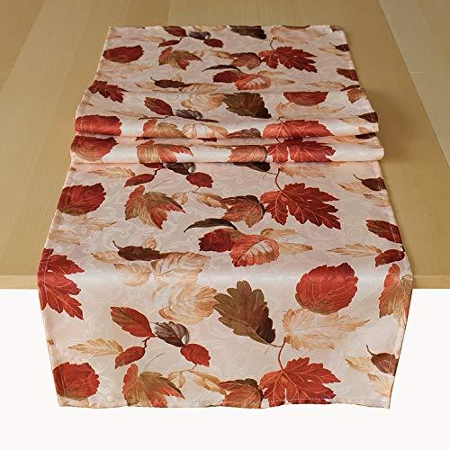 Kamaca Serie Herbstliches Laub Druck-Motiv mit Herbstlaub EIN Schmuckstück Herbst Winter (40x140 cm Tischläufer)