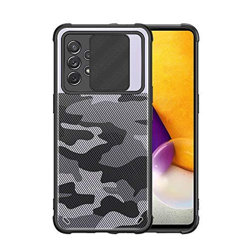 Shazikaihui Stoßfest 360 Grad Kamera Schutzhülle Transparente Kompatibel mit Samsung Galaxy A32 Hülle Durchsichtig PC Rückseite Galaxy A32 Handyhülle Silikon TPU Bumper Cover Case für Samsung A32