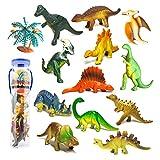 Mini Dinosaure Figurine Modèle Monde Jurassique Décoration de Fête Jouets Enfants Garçons, 12PCS Set