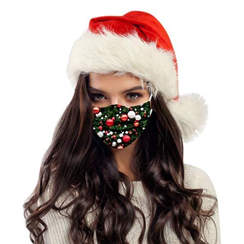 HEnri 20 Stück Weihnachten-Mundschutz mit Motiv,Einweg_3Lagig_Staubdicht...