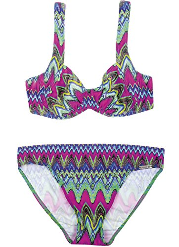 olympia Damen Set Bikini Baie Ternay, Mehrfarbig (Türkis 23), 40 (Herstellergröße: 40C)