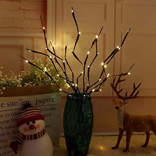 Winnes Zweiglichterkette, 20 LEDs, batteriebetrieben, dekorative Weihnachtslichter für Innen- und Außenbereich, Weidenzweige, warmweiß, 3er-Pack