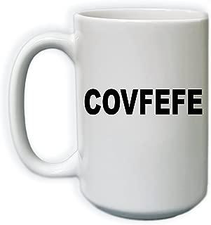COVFEFE Coffee Mug, Funny Ceramic Coffee Mug, Trump Tweet, 15 oz