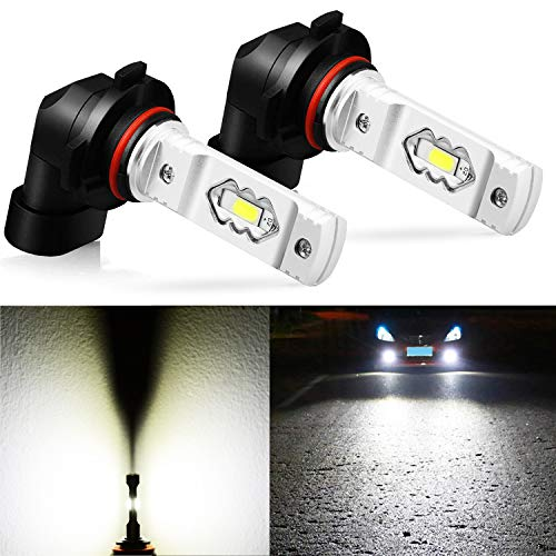 JDM ASTAR Extremely Bright High Power H10 9145 9140 9050 9155 LED Fog Light Bulbs, Xenon White