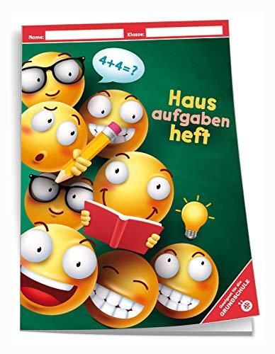 Trötsch Verlag 201941N - Hausaufgabenheft DIN A5 für die Grundschule, Smile, 96 Seiten, mit extra starkem Klarsichtumschlag