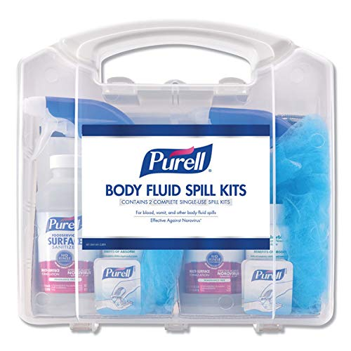 PURELL Body Fluid Spill Kit in Clamshell Carrier, 2 Spill Kit Uses per Clamshell (Pack of 1)