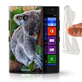 Hülle Für Nokia Lumia 735 Wilde Tiere Koala Design Transparent Dünn Flexibel Silikon Gel/TPU Schutz Handyhülle Hülle