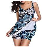 Trajes De BañO para Mujer De 2 Piezas Trajes De BañO Tankini para Mujer Trajes De BañO Pareos Playa Grandes Bikinis Calzedonia Blue-2 XXXL