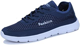 Dongxiong Sports shoes for breathable shock absorption outsole sport shoes lace-up style mesh rich sporty sports shoes men (Color : Dark Blue, Size : 38 EU)