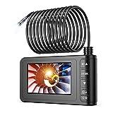 工業用内視鏡 SKYBASIC スコープカメラ スネークカメラ IP67防水8MMレンズ 1080P HDビデオ 4.3インチLCDスクリーン 6個LEDライト 車/設備の点検用カメラ 半剛性ケーブル&32GBカード付き(10M)