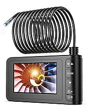 Endoscopio Industrial, SKYBASIC 1080P HD Digital Boroscopio Cámara Impermeable LCD de 4.3 Pulgadas Cámara de Inspección Cámara de Serpiente con 6 luces LED, Cable Semirrígido, Tarjeta TF de 32GB