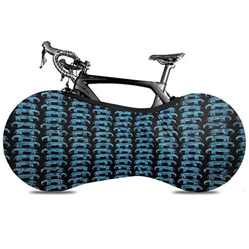 Lindsay Gosse In-dian Culture Elephants Fahrradstaubabdeckung Polyester Langlebige Fahrradabdeckung Kratzfeste Fahrradschutzwaschbare Fahrradaufbewahrung