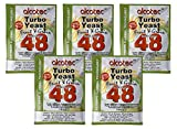 5x Alcotec 48 Fruit & Grain Turbo Yeast 20% ABV with Double Enzyme