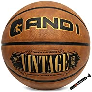 """OFFICIAL SIZE BALL: The AND1 Vintage composite leather basketball is regulation size 7 (29.5"""") and weight PREMIUM COMPOSITE LEATHER MATERIAL: Provides ultimate grip & control, and is durable to last and withstand wear and tear ELEVATE YOUR GAME LIKE ..."""