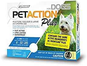 Pet Action Plus Flea & Tick Treatment for Small Dogs, 6-22 lbs, 3 Month Supply