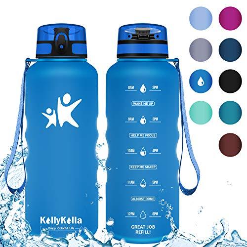 KollyKolla Botella Agua Sin BPA Deportes - 1.5L,