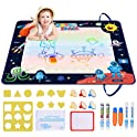 "Vajeme 40"" x 32"" Double Sided Space Aqua Magic Drawing Mat"