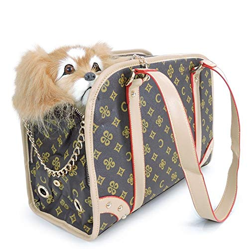 SWNN life in the doghouse Pet Bag Cat Backpack Teddy Out Of The Cat Cage Dog Bag Cat Bag Cat Portable Cage Bag Folding Luggage (Size : L)