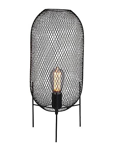 Mexlite Bodine Lampara de mesa Negra Incl. regulador LED
