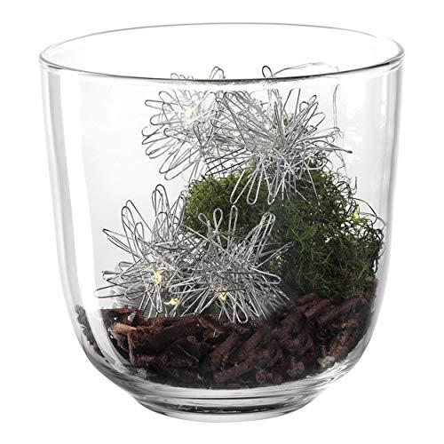 LEONARDO HOME Milano Windlicht, Kalk-Natron Glas, Mehrfarbig, 14 cm